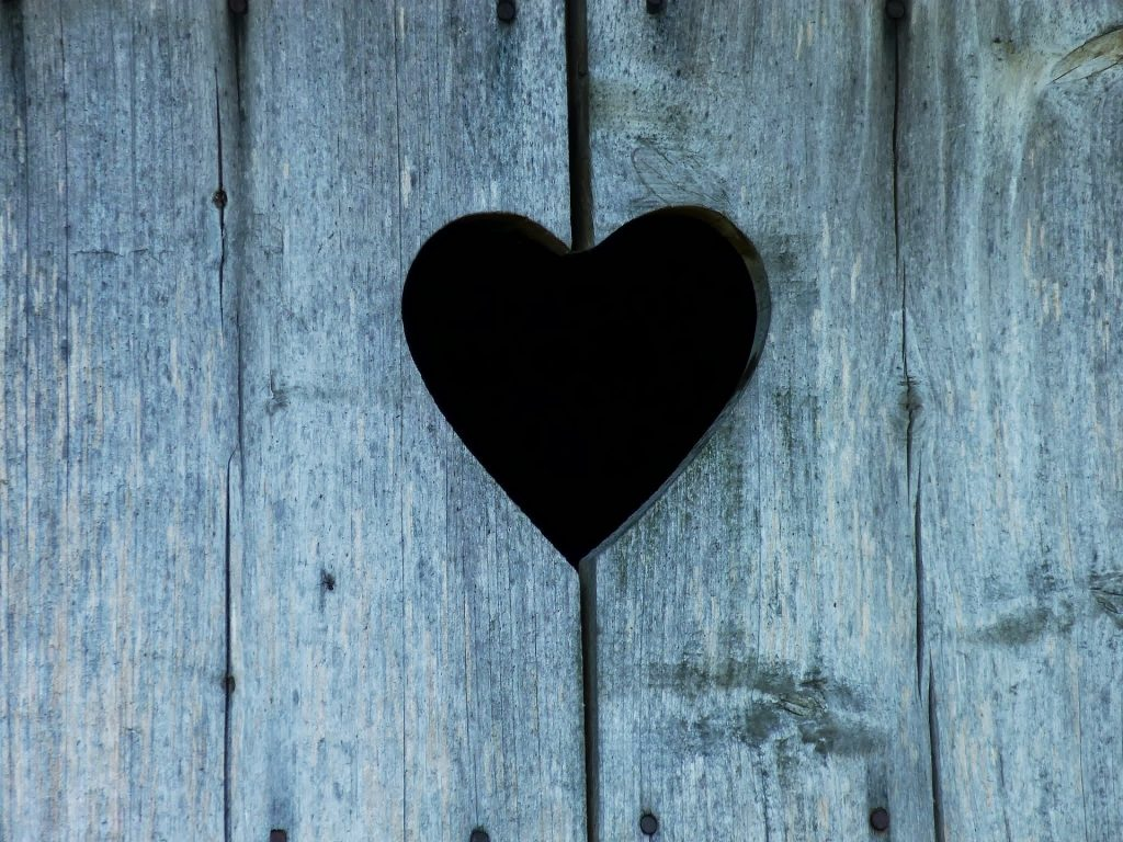 heart shape cut out of barn wood